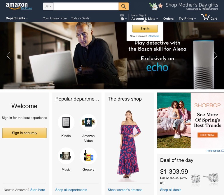 Top 10 popular shopping sites online for shoppers 2018 for 10 online shopping sites