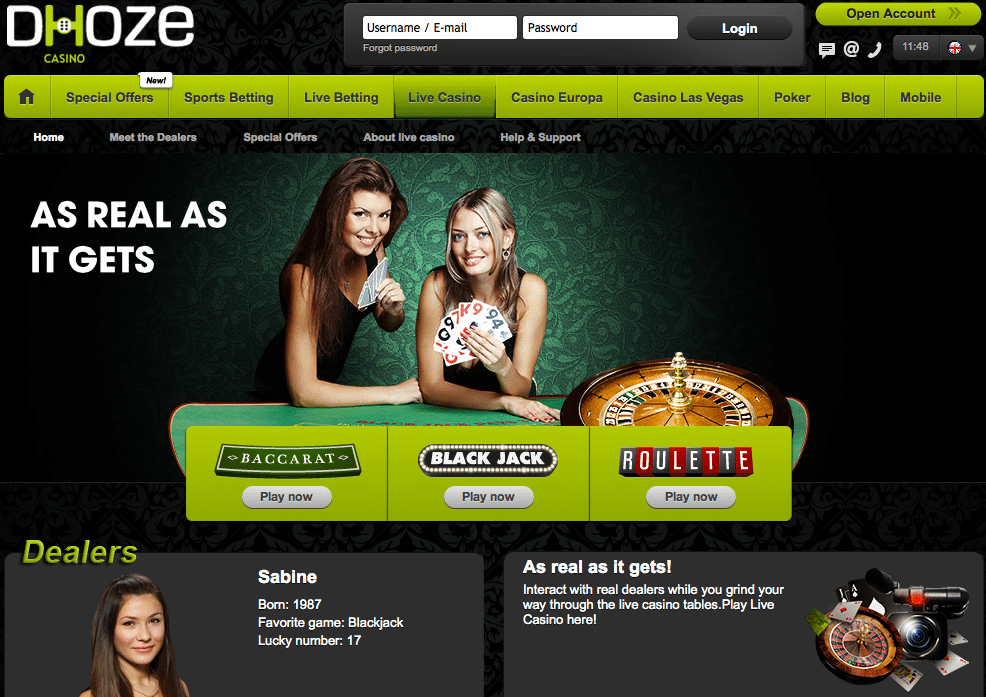 Dhoze Casino Review