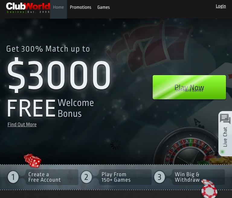 Club World Casino Complaints