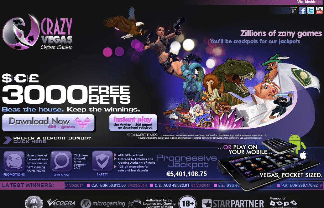 is vegas casino online legit
