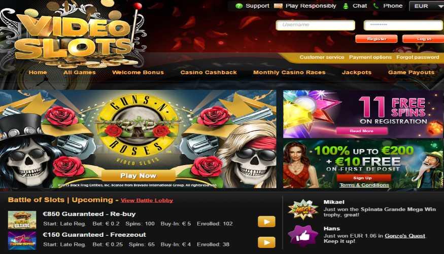 видео слотс казино официальный сайт